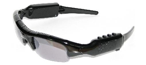 Obrázek z Sluneční brýle špionážní s Mp3 , videokamerou a až 64GB paměti