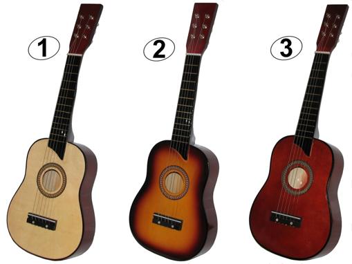 Obrázek z Dětská dřevěná kytara opravdová 53cm + trsátko zdarma