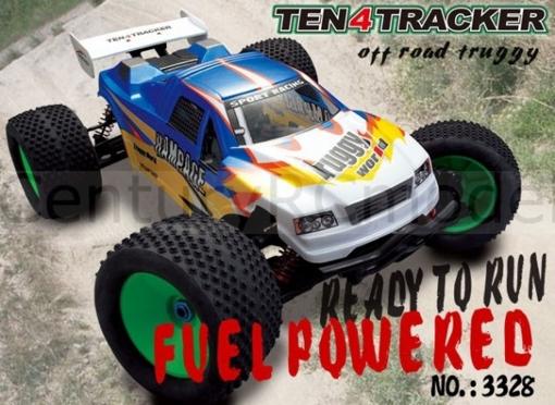 Obrázek z Spalovací RC TRUGGY 1/8 TEN4TRACKER NITRO 4WD HBX 3328