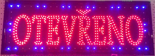 Obrázek z Světelná LED reklama, poutač - OTEVŘENO