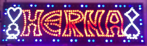 Obrázek z Světelná LED reklama, poutač - HERNA 22