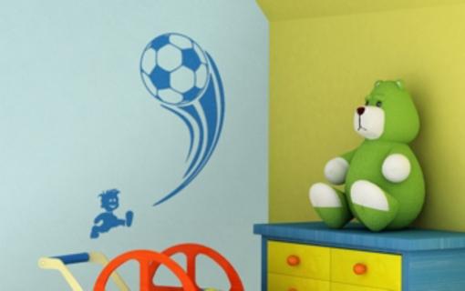 Obrázek z Samolepící dekorace na zeď - fotbalista
