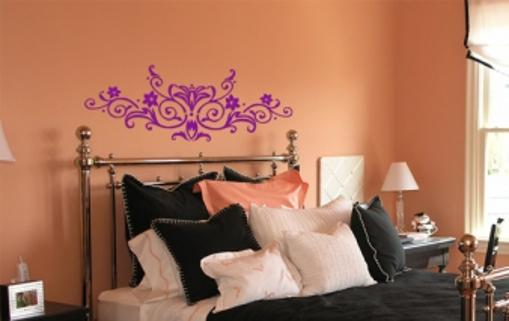 Obrázek z Samolepka na zeď - květinový ornament