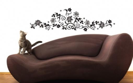 Obrázek z Samolepka na zeď - romantické květiny