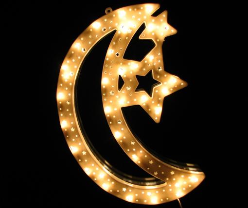 Obrázek z Vánoční LED osvětlení měsíc - dekorace na okno, dveře, výlohu