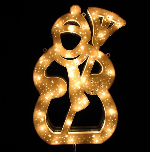 Obrázek z Vánoční osvětlení LED sněhulák velký - dekorace na okno, dveře, výlohu