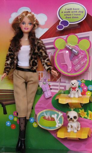 Obrázek z Panenka Defa Lucy s pejsky - bruneta