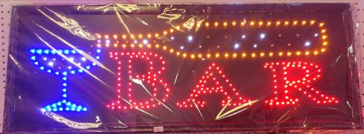 Obrázek z Světelná LED reklama, poutač - BAR