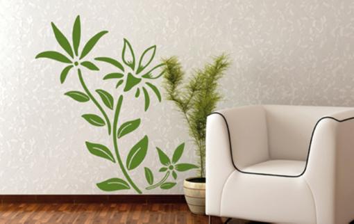 Obrázek z Samolepící dekorace na zeď - pnoucí květina velké listy