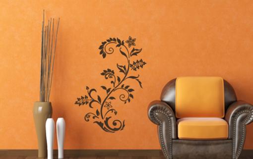 Obrázek z Samolepící dekorace na zeď - pnoucí květina s květy