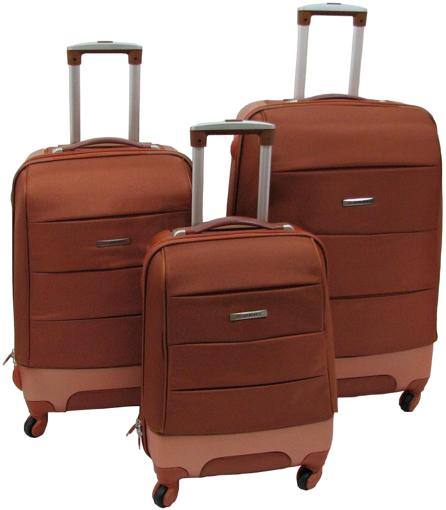 Obrázek z Skořepinový kufr 3ks, cestovní sada na 4 kolečkách - 302