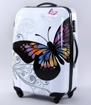 Obrázek z Cestovní kufry sada 2ks ABS vel.SM - PC tisk motýl