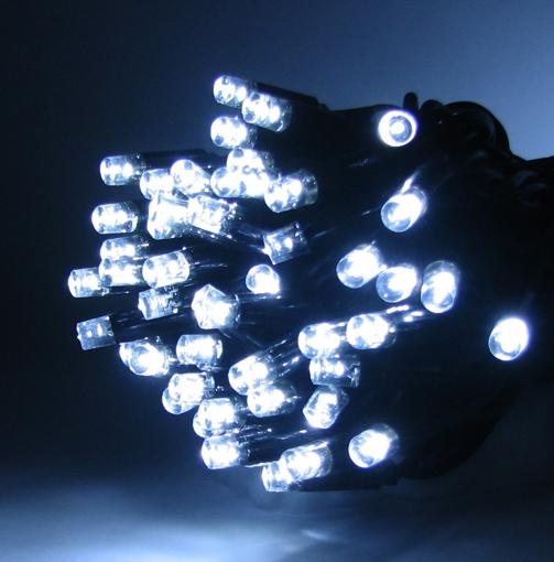 Obrázek z Vánoční osvětlení venkovní, extra velké LED diody světelný řetěz 60 ks/7,5 m