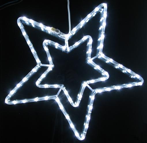 Obrázek z Vánoční LED osvětlení hvězda 55 cm - dekorace na okno, dveře, výklad