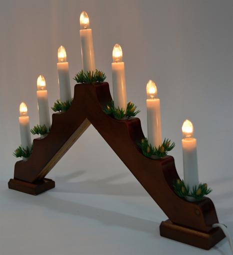Obrázek z Vánoční osvětlení svícen za okno 7 ks