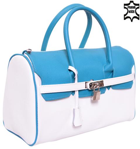 Obrázek z Kožená kabelka se zámečkem Italy Design