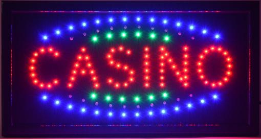 Obrázek z Světelná LED reklama, poutač - CASINO