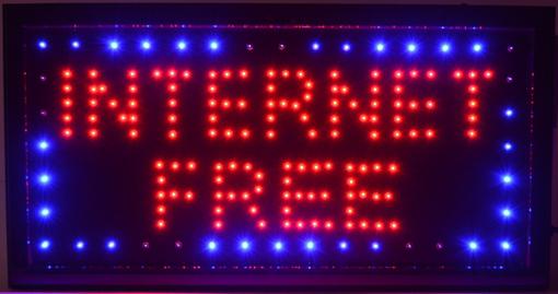 Obrázek z Světelná LED reklama, poutač - INTERNET FREE