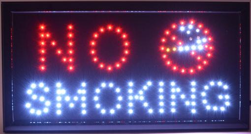 Obrázek z Světelná LED reklama, poutač - NO SMOKING