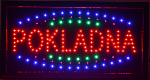 Obrázek z Světelná LED reklama, poutač - POKLADNA