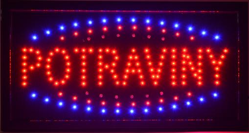 Obrázek z Světelná LED reklama, poutač - POTRAVINY