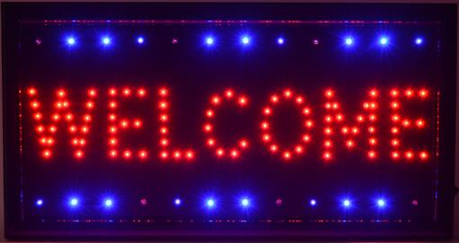 Obrázek z Světelná LED reklama, poutač - WELCOME