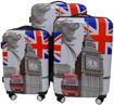 Obrázek z Cestovní kufry sada 3 ks ABS - PC potisk Británie