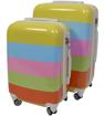 Obrázek z Cestovní kufry sada 2 ks ABS - PC potisk Duha