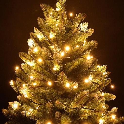 Obrázek z Vánoční LED osvětlení, světelný řetěz na stromeček 50 ks/6,5 m