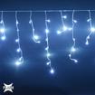 Obrázek z Vánoční osvětlení venkovní, světelné LED krápníky 210ks/10m s FLASH bílá studená