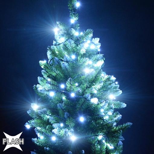 Obrázek z Vánoční LED osvětlení, světelný řetěz na stromeček 100 ks/10 m s FLASH