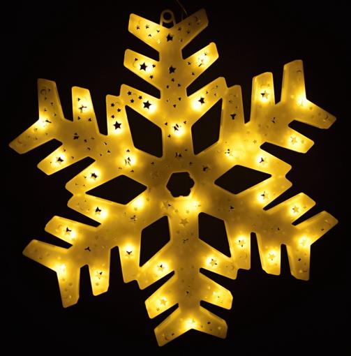 Obrázek z Vánoční led osvětlení vločka - dekorace na okno, dveře, výlohu