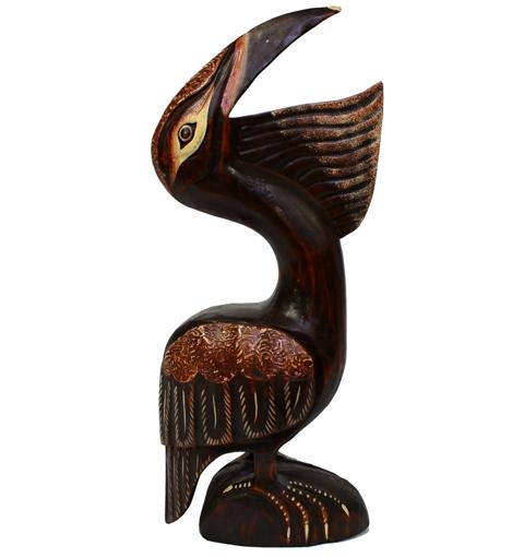 Obrázek z Dřevěná soška pelikán 50cm
