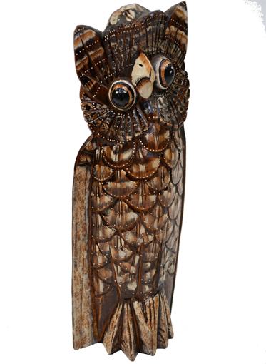 Obrázek z Dřevěná soška sova 50cm