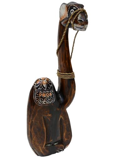 Obrázek z Dřevěná soška velbloud