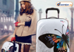 Obrázek z Cestovní kufr velký ABS vel.L - PC tisk motýl