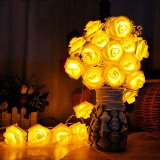 Obrázek z Světelný řetěz dekorace růže 20 ks