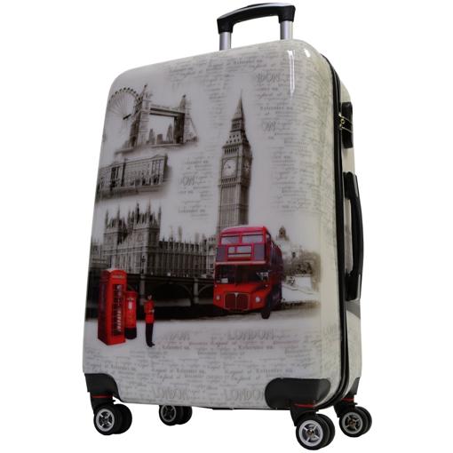 Obrázek z Cestovní kufr ABS vel. M - PC potisk London
