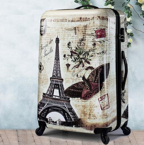 Obrázek z Cestovní kufr ABS vel. L - PC potisk Paris Vintage