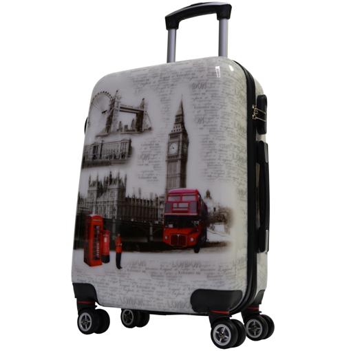 Obrázek z Kabinový kufr ABS vel. S - PC potisk London
