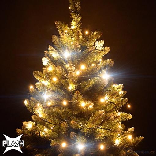 Obrázek z Vánoční LED osvětlení, světelný řetěz, venkovní 670 ks/105 m s FLASH