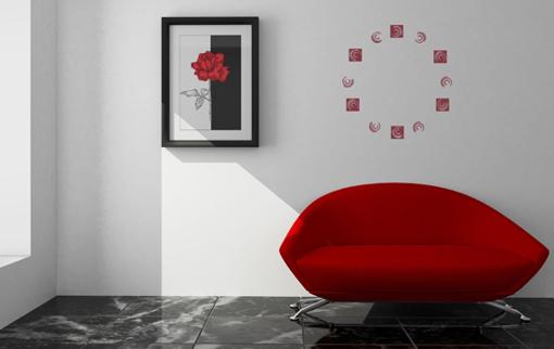 Obrázek z Samolepící dekorace na zeď - moderní čtverce