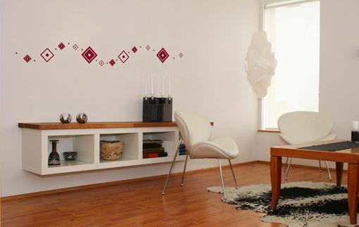 Obrázek z Samolepící dekorace na zeď - čtverce