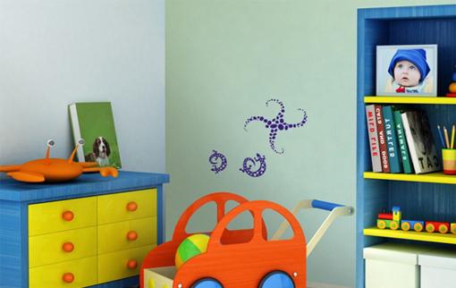 Obrázek z Samolepící dekorace na zeď - ještěrky