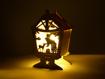 Obrázek z Vánoční dřevěná LED dekorace vyřezávaná na stůl - A1