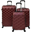 Obrázek z Skořepinové kufry 3 ks, cestovní sada na 4 kolečkách - Vafle