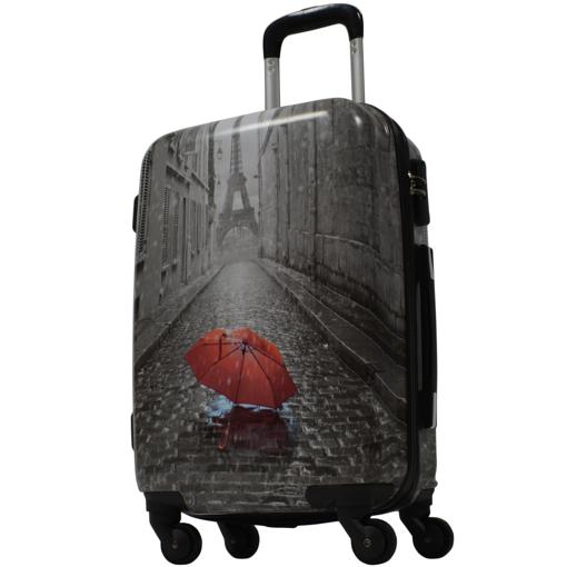 Obrázek z Kabinový kufr ABS vel. S - PC potisk Rain Paris