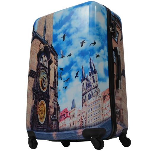 Obrázek z Cestovní kufr ABS vel. L - PC potisk Česká Republika Orloj