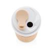Obrázek z Ekologický termorhnek ECO s korkovým rukávem, 400 ml, XD Design, bílý/hnědý
