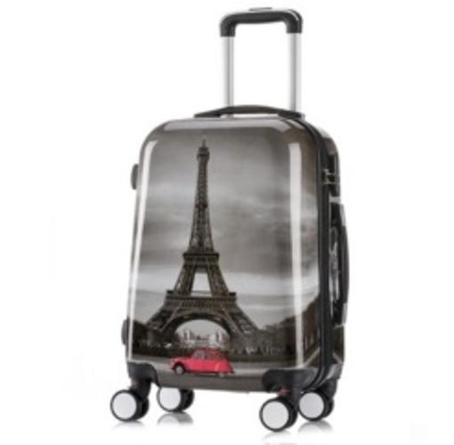 Obrázek z Palubní kufr vel. S ABS - PC tisk Paris Tower